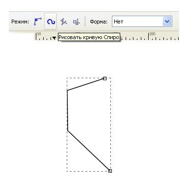 рисуем кривую в inkscape